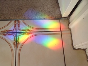 Rainbows on floor tiles